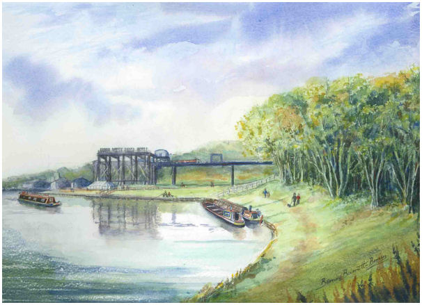ANDERTON BOAT LIFT Water colour £250