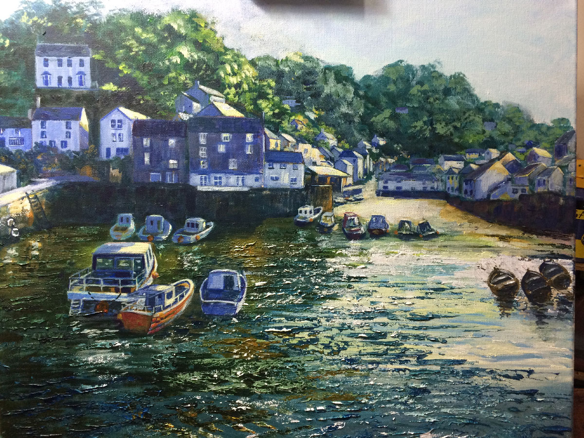 POLPERRO Acrylic on canvas Gallery Choice Award Cheshire Open Studios 2016 SOLD