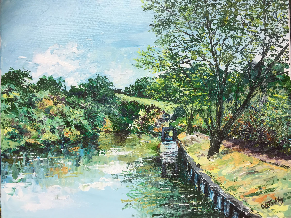 THE MOORING   Acrylic on canvas SOLD