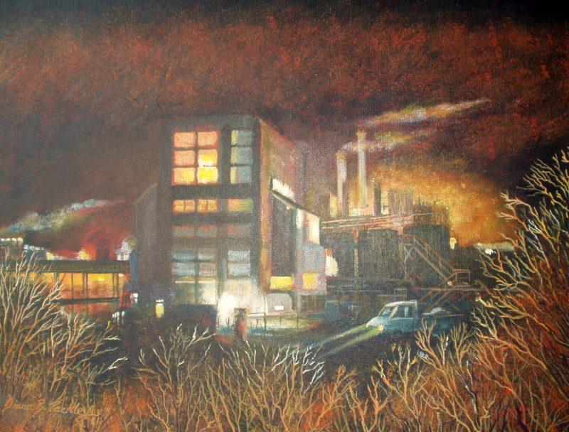 WINNINGTON WORKS ll  Acrylic on DS canvas 51cms x 51cms £395