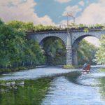 Railway Viaduct - River Weaver - Diana Bernice Tackley