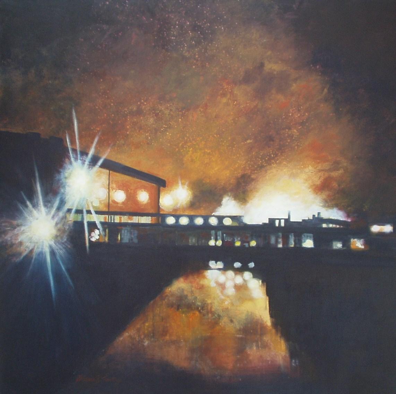 INDUSTRIAL REFLECTION Acrylic on canvas 91cms x 91cms £1200